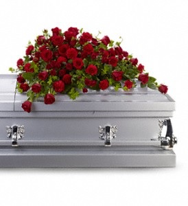 WFC125 Casket Spray - Red Roses in Westford, MA | WESTFORD FLORIST