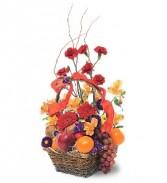 WFG108 Fruits & Flowers Basket