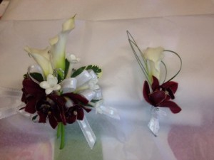 WFP 424 Boutonniere & Pearl Corsage   in Westford, MA   WESTFORD FLORIST