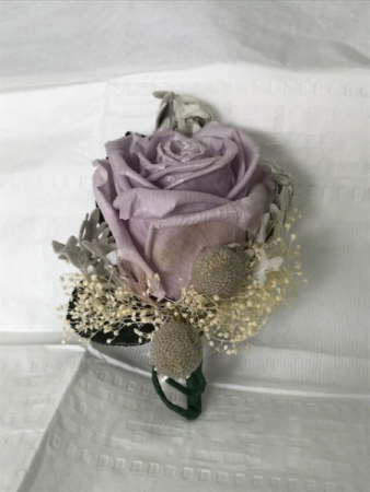 WFP 418 Preserved Purple Rose Boutonniere