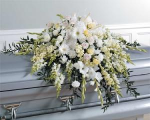 WFC133 Casket Spray - Heavenly Peace in Westford, MA | WESTFORD FLORIST