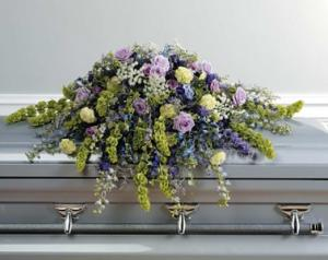 WFC134 Casket Spray - Bells of Ireland  in Westford, MA | WESTFORD FLORIST