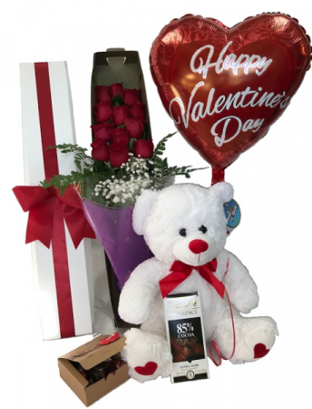 WFV 103 Just for you Roses, Bear, Balloon, and Chocolate are all included