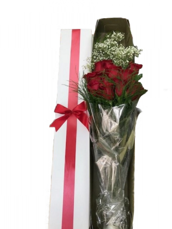 WFV 207 12 Red Roses with water in a box