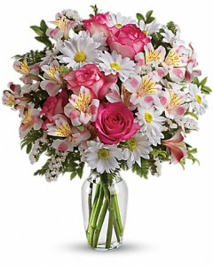 What A Treat Bouquet With Roses Bouquet in Jasper, TX | BOBBIE'S BOKAY FLORIST