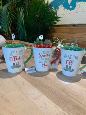 What The Elf Christmas Coffee/Tea Mug in Balsam Lake, WI | BALSAM LAKE PRO-LAWN INC.