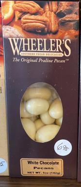 Wheeler's White Chocolate Pecans