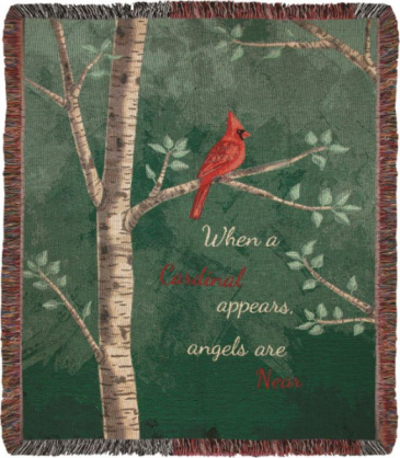When A Cardinal Appears Blanket/Throw