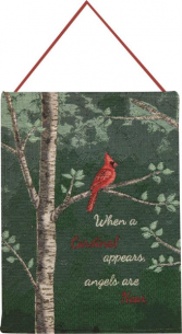 When a Cardinal Appears Tapestry Gift
