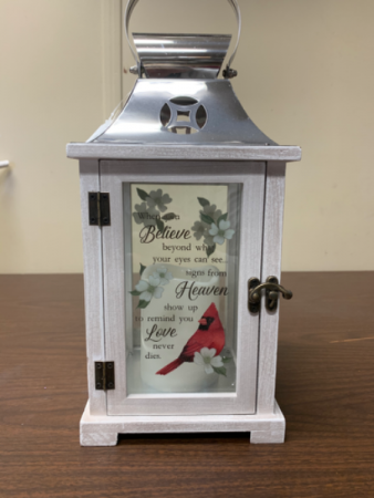 When Cardinals Appear Lantern with LED Candle