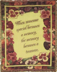 When someone becomes a memory