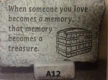 LARGE CONCRETE MEMORY STONE GARDEN MEMORY STONE