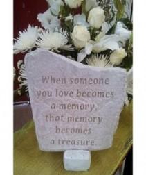 "When Someone You Love 12"" x 11"" Memorial Stone"