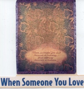 When Someone You Love Sympathy Tapestry