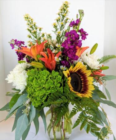 Where the wild things Grow Fresh Vase Arrangement