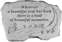 WHEREVER A BEAUTIFUL SOUL MEMORIAL STONE