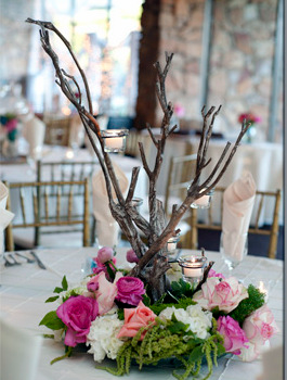 Whimsical Centerpiece  Wedding Centerpiece