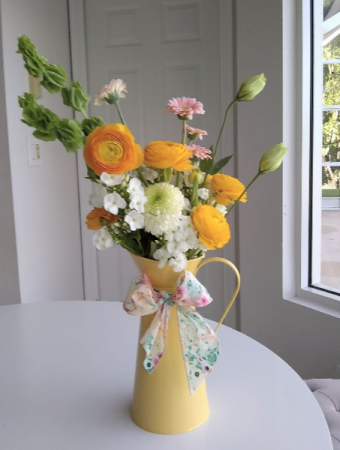 Whimsical Pitcher Yellow