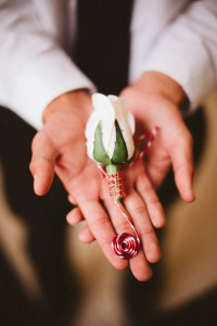 Whimsical Rose Boutonniere
