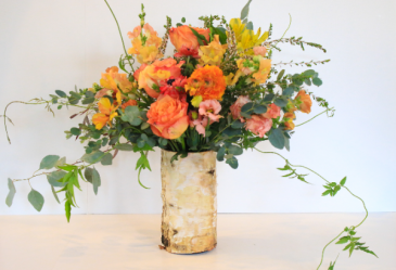 Whimsical Sunrise Floral Design