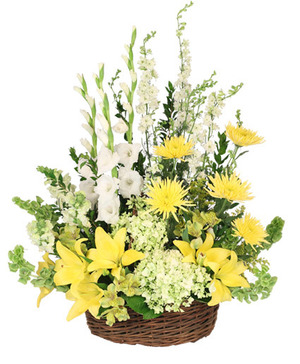 Prayerful Whisper Funeral Flowers in Port Dover, ON | Upsy Daisy Floral Studio