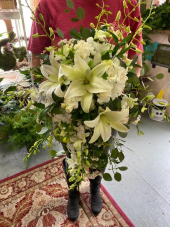 Whimsical white bouquet  Brides bouquet