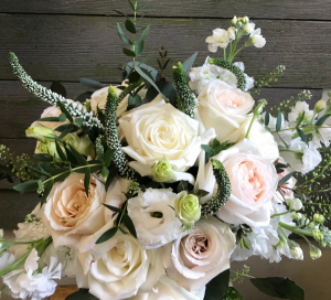 Whimsical Whites vase in Northport, NY | Hengstenberg's Florist