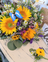Whimsical Wildflower Bridal Bouquet and Bout Wedding Flowers Local In House Special