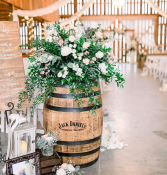 Whiskey Barrel Rental  Rental for Rustic Weddings