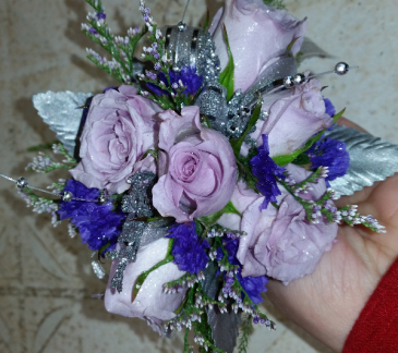Whisp of Lavender Roses Wrist Corsage