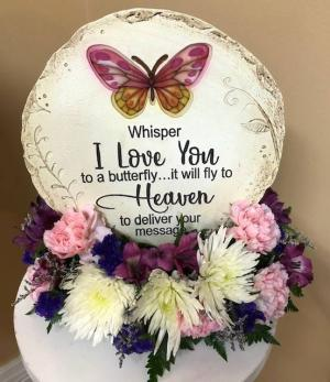 Whisper I Love You To A Butterfly Stepping Stone in Springfield, IL | FLOWERS BY MARY LOU