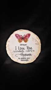 Whisper to a butterfly stepping stone