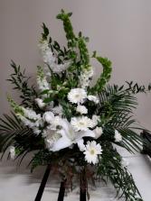 Whisper White Funeral Arrangement