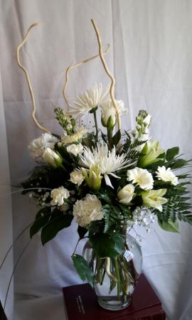 Whisper White Vase All White