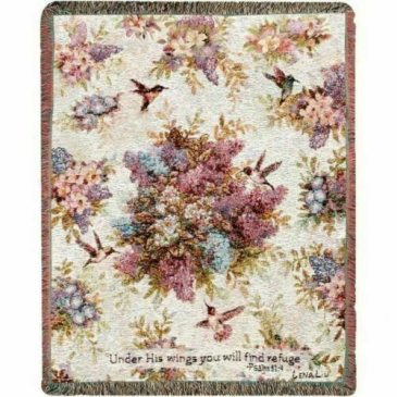 Whisper Wings Tapestry Woven Throw