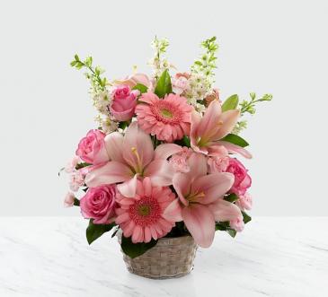 Whispering Love Flower Basket