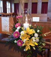 Whispy Sympathy Hurricane Funeral Arrangement