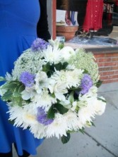 Whispy Whites and Purples Wedding Bouquet