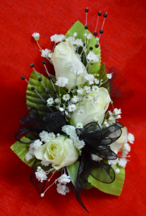 White and Black Corsage- 12D