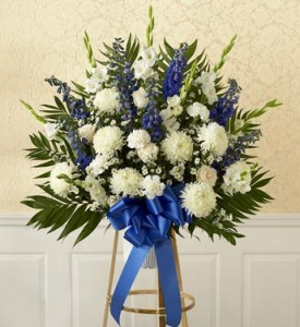 White and Blue Basket