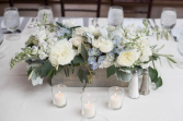 White and Blue centrepiece