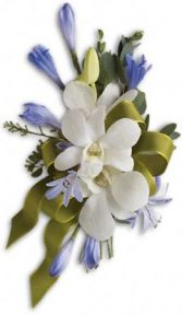 White and Blue Corsage Corsage