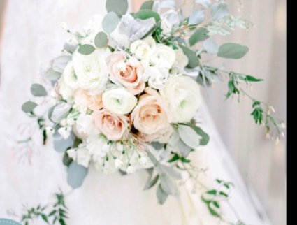 White and Blush  Wedding
