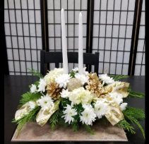 White and Gold Centerpiece Centerpiece