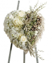 White and Green Heart Funeral
