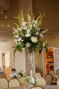 White and Green Vase on Vase
