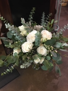 White and Grey Bridal Bouquet