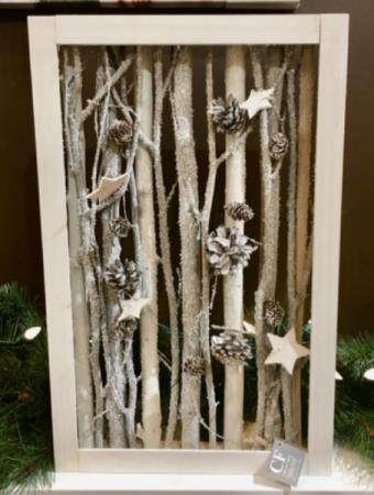 White and Grey Wooden Decor Frame  Giftware Decor