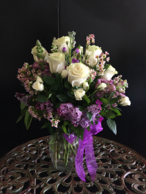 White and lavender floral mix