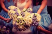 White and light blue1 Bridesmaids Bouquets